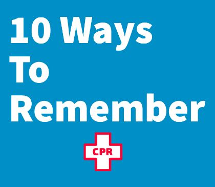 10 Ways to Help Your Employees Remember CPR/AED Training