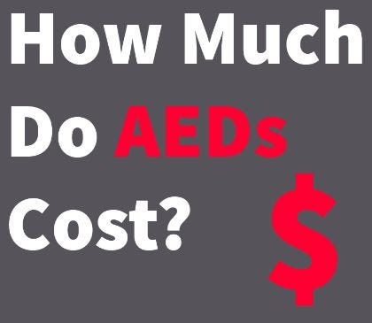 The cost of an AED