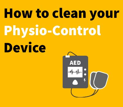 Cleaning your Physio Control AED or Manual Defibrillator