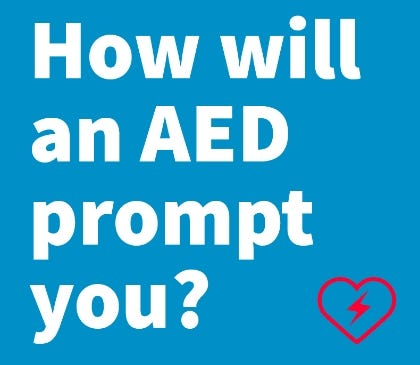 How do AED prompts work
