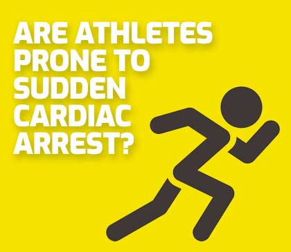 are athletes more or less likely to die from sudden cardiac arrest