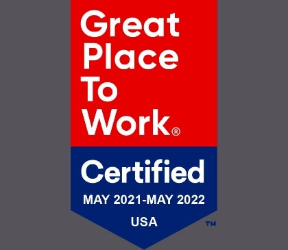 Sarnova Earns 2021 Great Place to Work Certification™