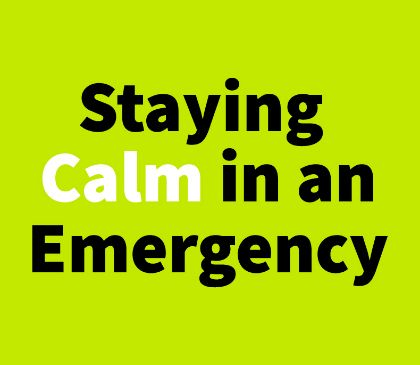 How can I keep my employees calm during a SCA emergency?