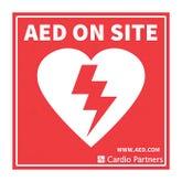 AED window sticker