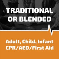 CPR training for adult, child and infant victims