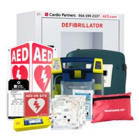Healthcare setting AED package from Cardio Partners