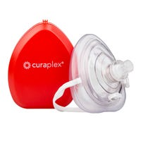 Curaplex Pocket Mask with O2 Inlet