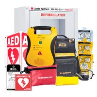 Defibtech Lifeline AED package for healthcare settings
