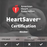 Adult First Aid/CPR/AED Certification (Blended) - American Heart Association