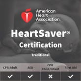 Adult First Aid/CPR/AED Certification - American Heart Association