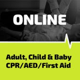 CPR, AED and First Aid training and certification online