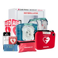 Healthcare AED package for hospitals, long term care, nursing homes and surgery centers