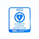 Zoll AED Decal