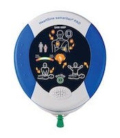 blue white aed