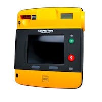 yellow and black aed