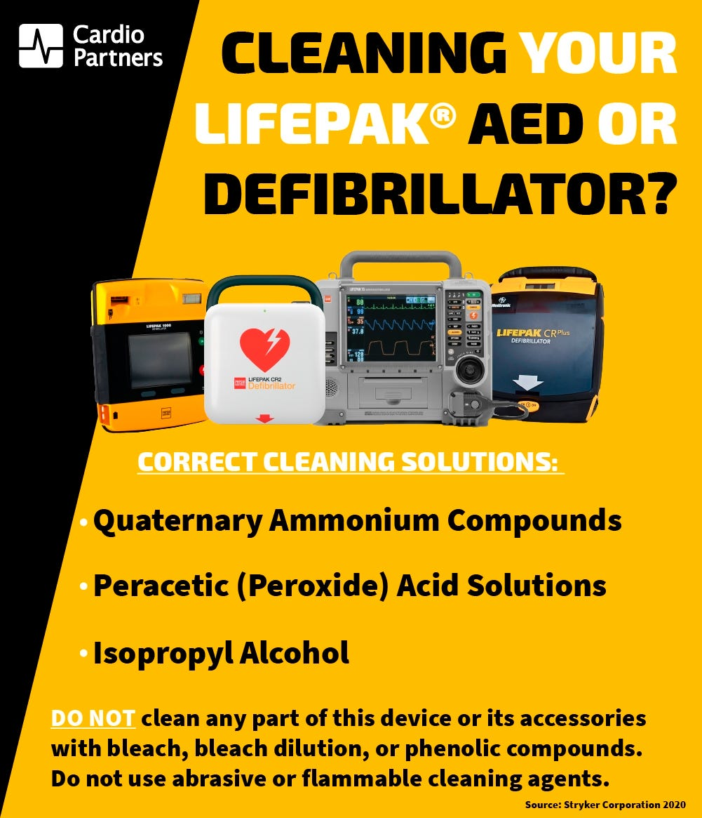 How to clean your Physio-Control AED and Defibrillator